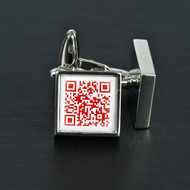 Secret Love Message Cuff links in Red