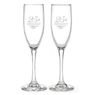 25th Anniversary Toasting Flutes