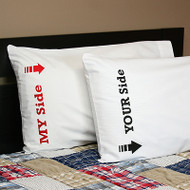 My Side, Your Side Pillowcases
