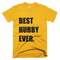 Best Hubby Ever T-Shirt in Gold