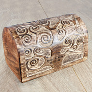 Personalized Wooden Anniversary Treasure Box