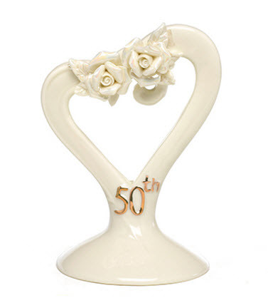 50th anniversary rose cake topper