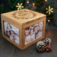 personalized family Christmas photo box