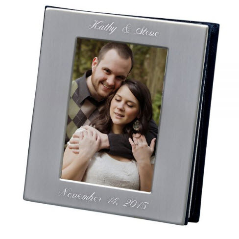 Engraved Silver Anniversary Photo Album