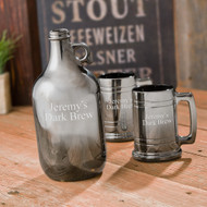 Engraved Gunmetal Beer Growler Set