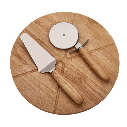 Personalized Pizza Board with 2 utensils