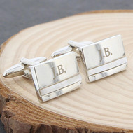Mother of Pearl personalized cufflinks