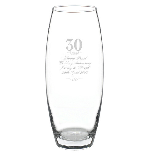 Personalized 30th Anniversary Vase