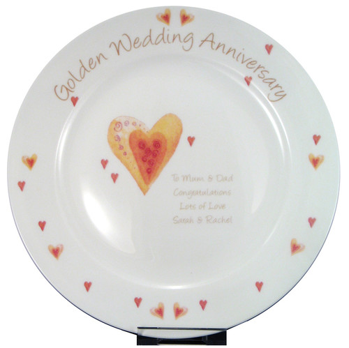 Personalized Golden Anniversary Plate