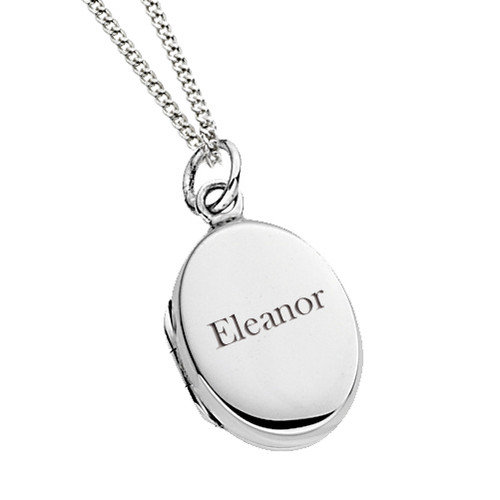 Personalized Sterling Silver Locket engraved with their name
