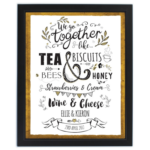 Personalized We Go Together Framed Print
