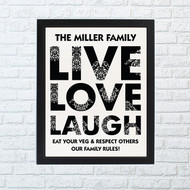 Personalized Live, Love, Laugh framed print