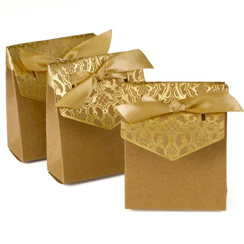 Vintage Golden anniversary favor boxes