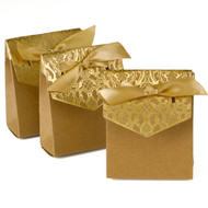 Vintage Golden anniversary favor boxes