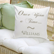 Once Upon A Time personalized throw pillow, perfect gift for your Prince Charming or beautiful princess.