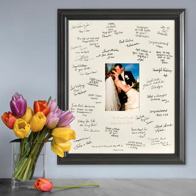 Wedding anniversary signature frame