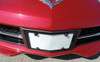 14-16 Corvette C7 Front Aero Panel License Plate Frame In Carbon Metallic Black