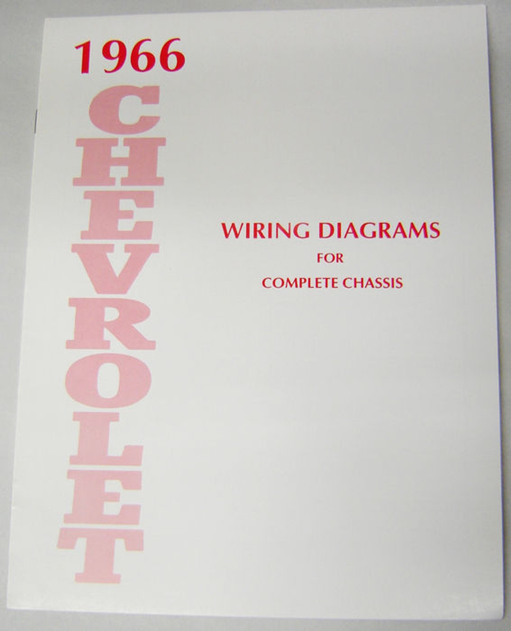 66 1966 CHEVY IMPALA ELECTRICAL WIRING DIAGRAM MANUAL - I-5 ...