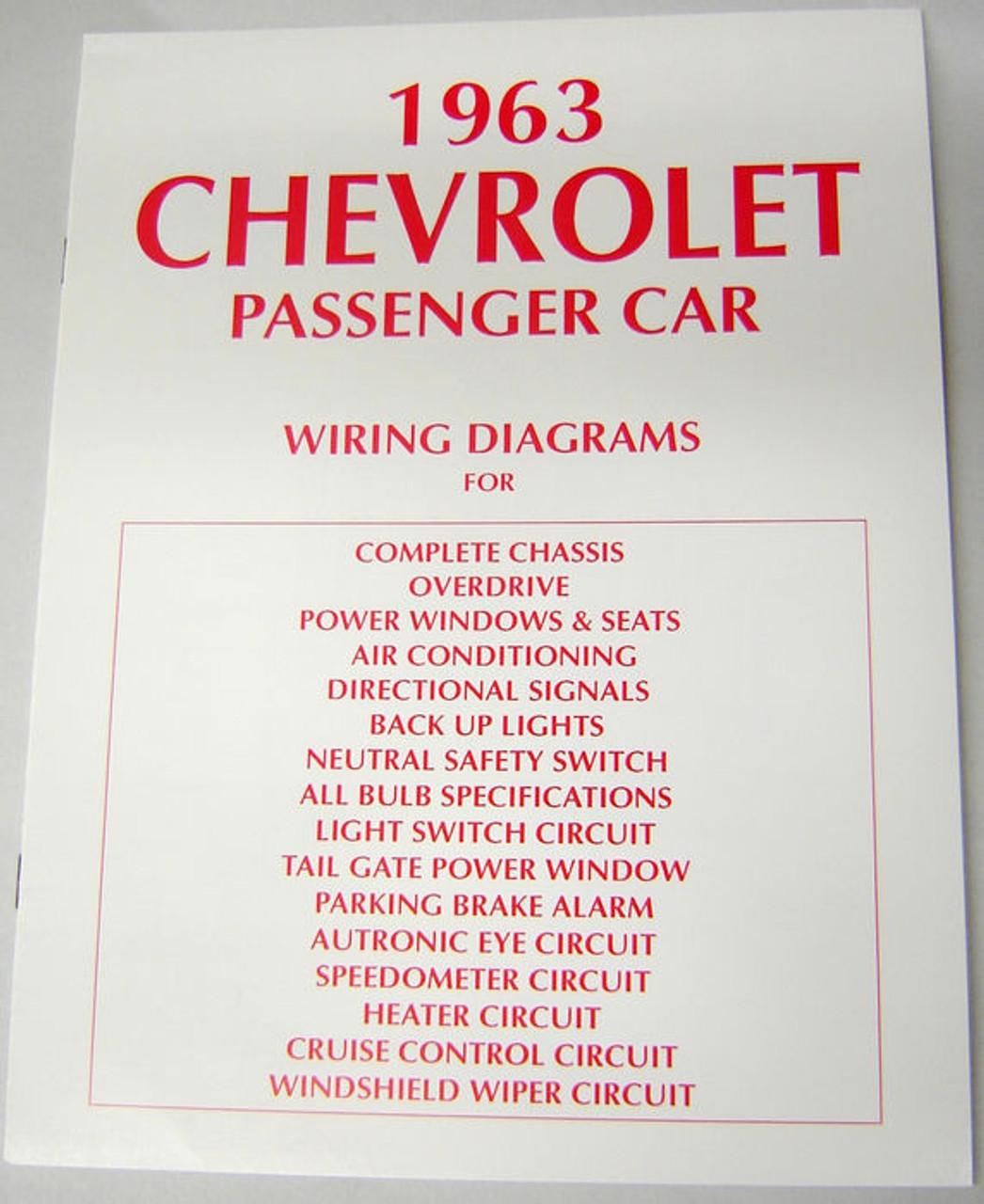 63 CHEVY IMPALA ELECTRICAL WIRING DIAGRAM MANUAL 1963 I5 – Impala Power Seats Wiring-diagram