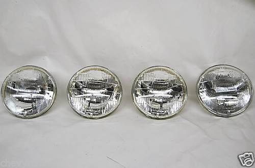 "58 59 60 61 62 63 64 CHEVY IMPALA 5-3/4"" HEADLIGHTS HALOGEN BULBS"