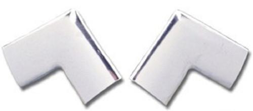 55 56 57 CHEVY HARDTOP REAR WINDOW UPPER CORNER MOLDINGS