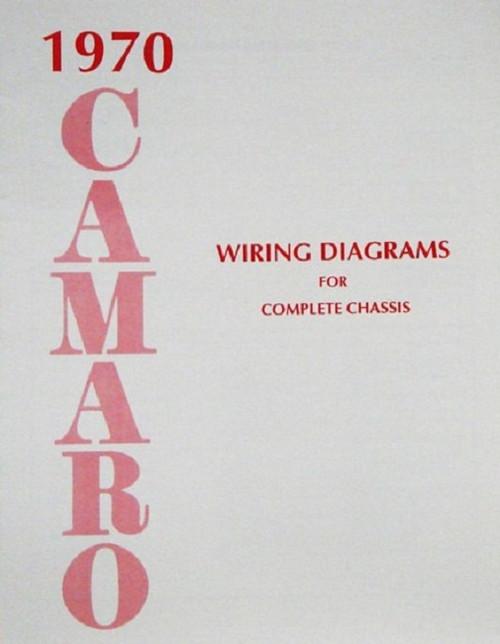 70 CHEVY CAMARO ELECTRICAL WIRING DIAGRAM MANUAL 1970