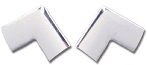 55 56 57 CHEVY SEDAN REAR WINDOW UPPER CORNER TRIM MOLDINGS