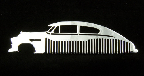 49 50 51 52 Chevy Fleetline Bel Air Polished Stainless Steel Metal Trim Beard Hair Mustache Comb