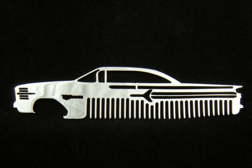 60 Chevy Bel Air Biscayne Impala Polished Stainless Steel Metal Trim Beard Hair Mustache Comb