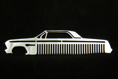 62 Chevy Bel Air Biscayne Impala Polished Stainless Steel Metal Trim Beard Hair Mustache Comb