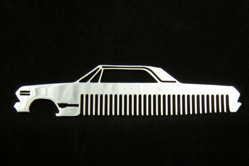 63 Chevy Bel Air Biscayne Impala Polished Stainless Steel Metal Trim Beard Hair Mustache Comb