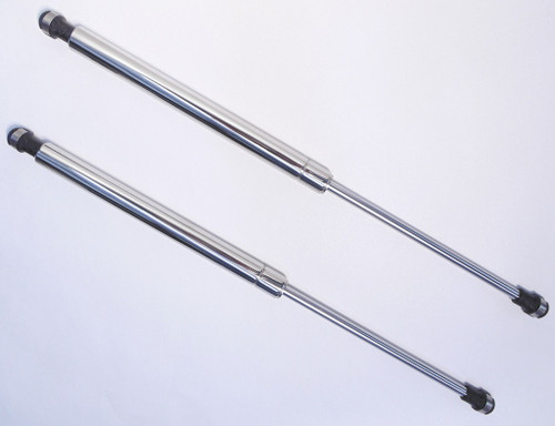 14-16 C7 Corvette Stingray Polished Stainless Steel Hood Struts Props Shocks Lift Support