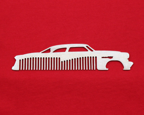 52 53 54 Ford Coupe Brushed Stainless Steel Metal Trim Beard Hair Mustache Comb