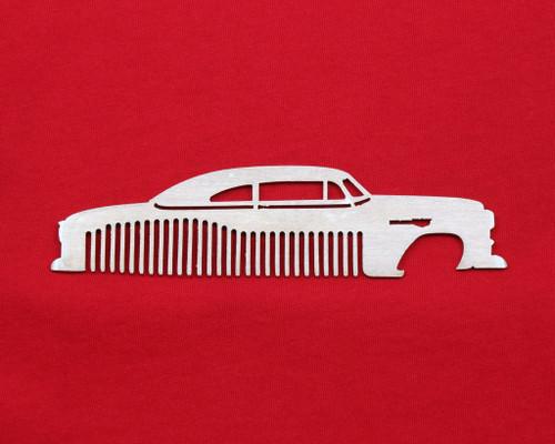 53 54 Chevy 150 210 Bel Air Sedan Brushed Stainless Steel Metal Trim Beard Hair Mustache Comb