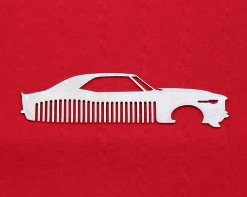 67 68 Chevy Camaro Brushed Stainless Steel Metal Trim Beard Hair Mustache Comb