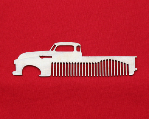 47-54 Chevy Pick Up Brushed Stainless Steel Metal Trim Beard Hair Mustache Comb