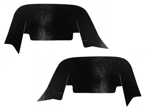 55 1955 CHEVY INNER FENDER DUST SHIELDS