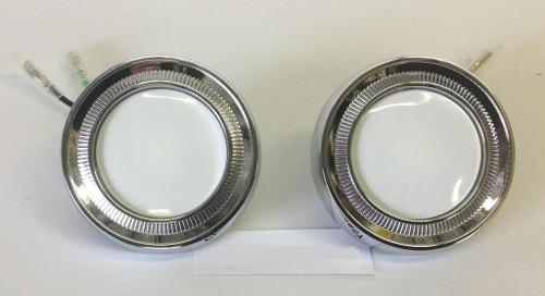 62 63 64 65 66 Chevy Impala Chrome Dome Light Lens Assemblies New Pair