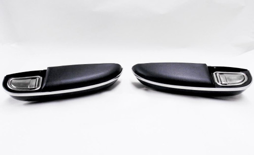 51 52 53 54 55 56 CHEVY 150 210 REAR ARM REST ASSEMBLIES & ASH TRAYS BLACK NEW