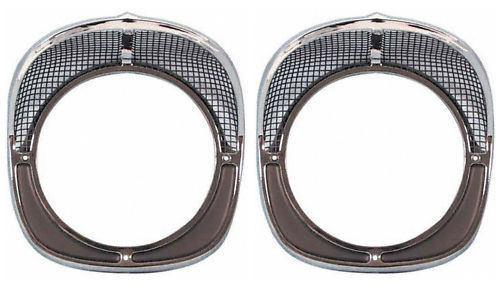 57 1957 CHEVY FRONT HEADLIGHT CHROME TRIM BEZEL KIT