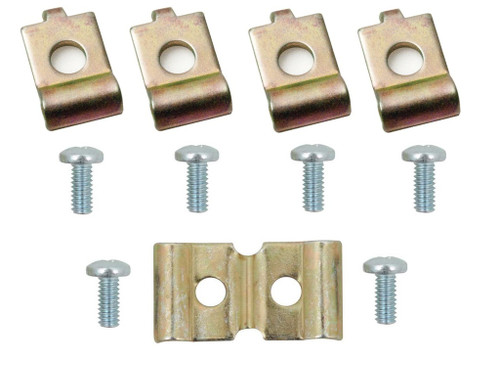 55 1955 56 1956 Chevy Deluxe Heater Cable Retainer Clip & Screw Set