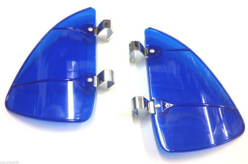 Blue Accessory Vent Wing Window Air Deflector Breeze Breezies Pair