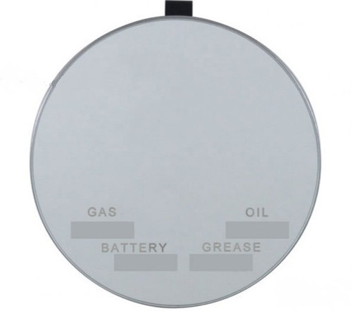"4"" Vanity Mirror Clip On Inside Sun Visor Gas/Oil/Battery/Grease Service Record"