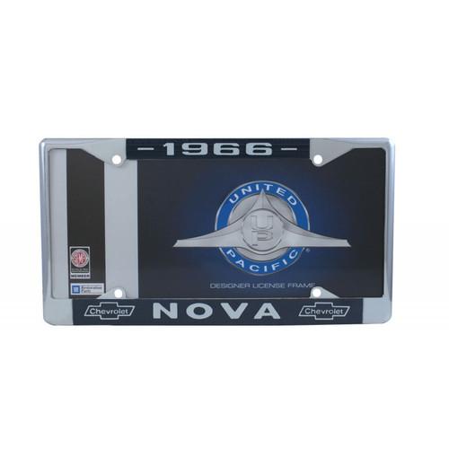 66 1966 Chevy II Chevrolet NOVA Chrome License Plate Frame