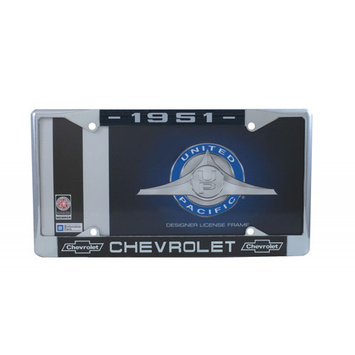 51 1951 CHEVY CHEVROLET CAR & TRUCK CHROME LICENSE PLATE FRAME