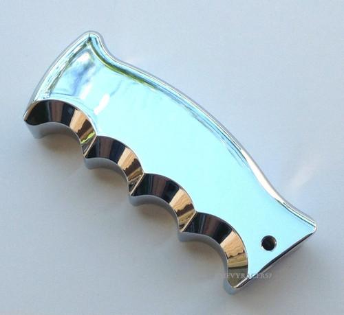 Chrome Aluminum Pistol Grip Shifter Handle Knob Column & Floor Shift Ford Mopar