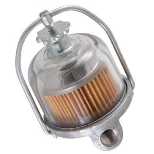 55 56 57 CHEVY ORIGINAL STYLE GLASS BOWL FUEL FILTER ASSEMBLY 1955 1956 1957