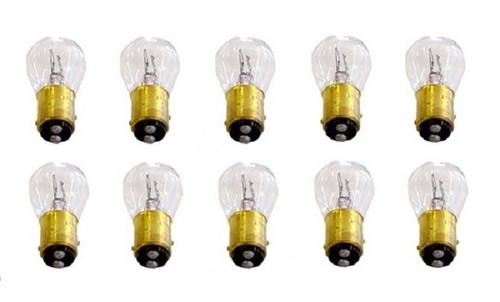 1157 12 Volt Stock Tail Light Rear Brake Stop Turn Signal Lamps Bulbs Box of 10
