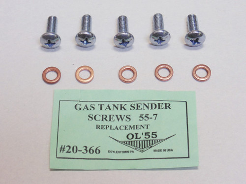 55 56 57 58 59 60 Chevy Car & Truck Gas Fuel Tank Sender Sending Unit Screw Kit