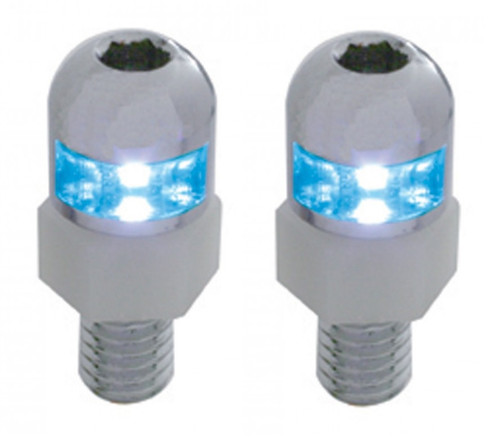 Blue LED Light Interior Dashboard Console License Plate Frame Fastener Screws